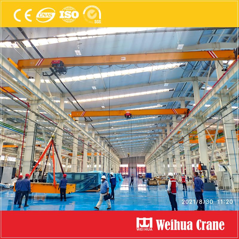5t-single-girder-bridge-crane-installation-Mexico