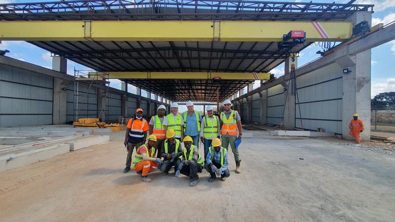 bridge-crane-installation-in-Tanzania