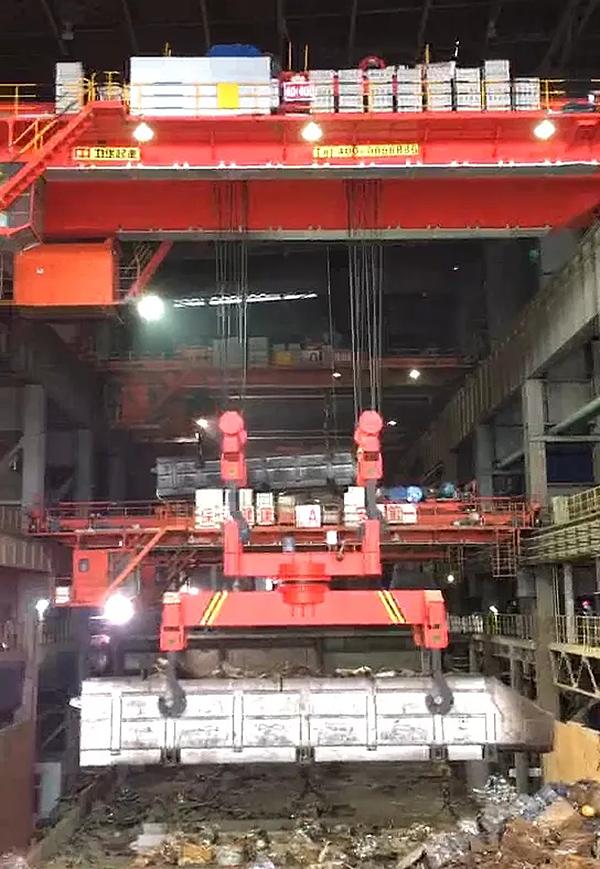bridge-crane-steelmaking-trough