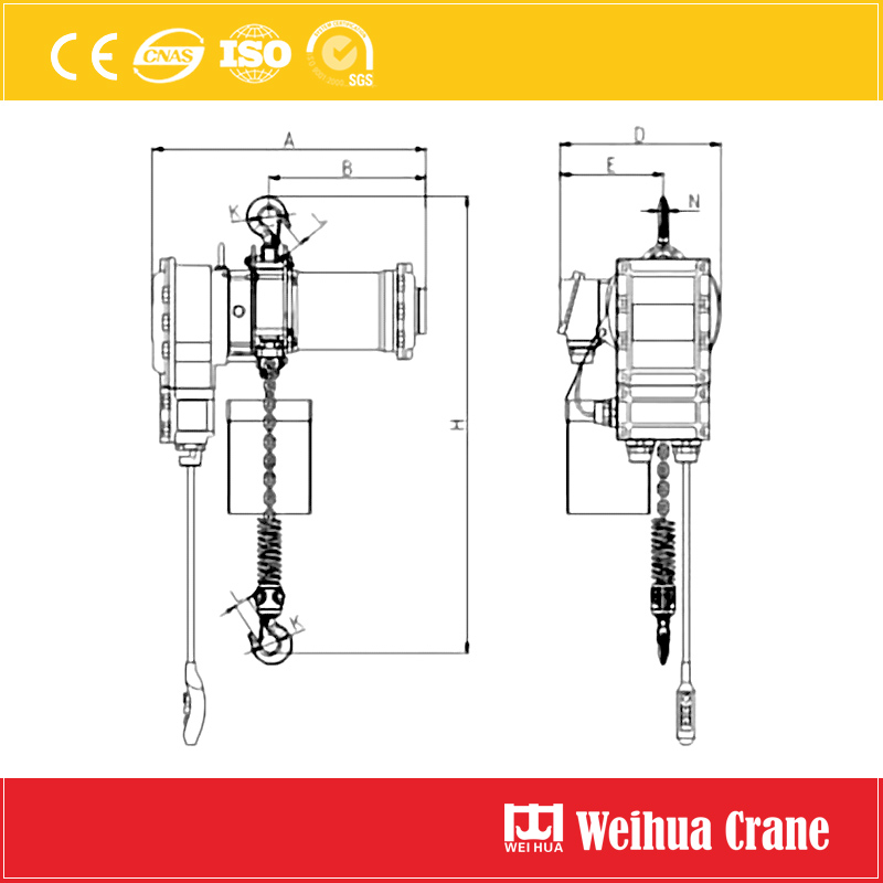 explosion-proof-chain-block-drawing